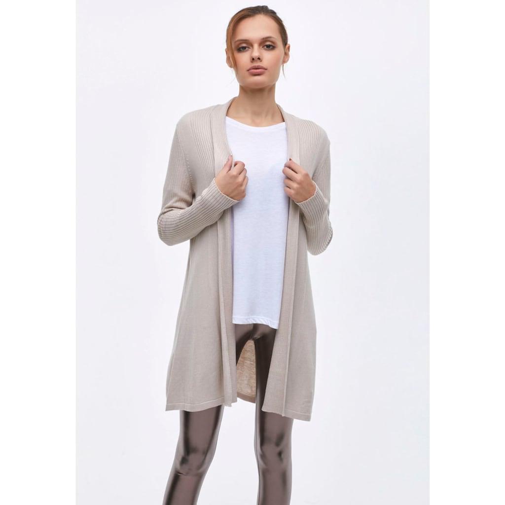 LTB Strickjacke »NAFABO«, in schlichtem Design, perfekt zu jedem Alltags-Look