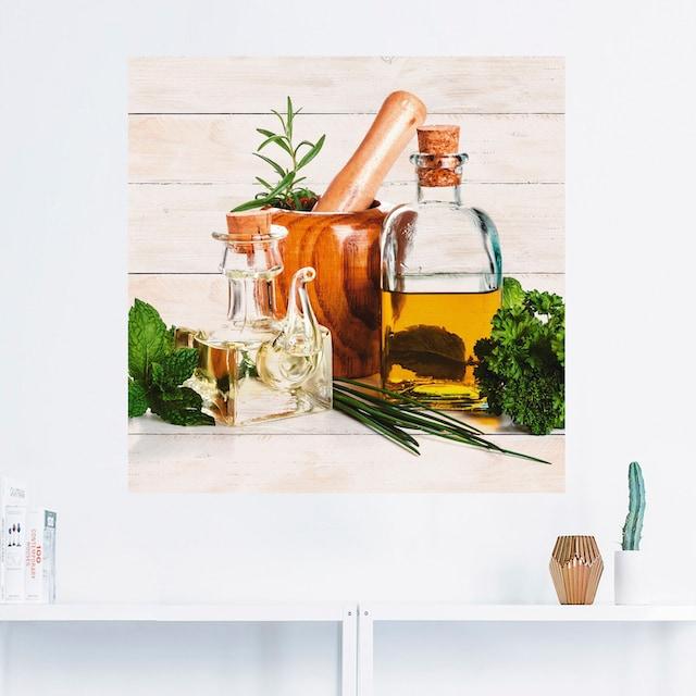 Artland Wandbild »Olivenöl und Kräuter - Küche«