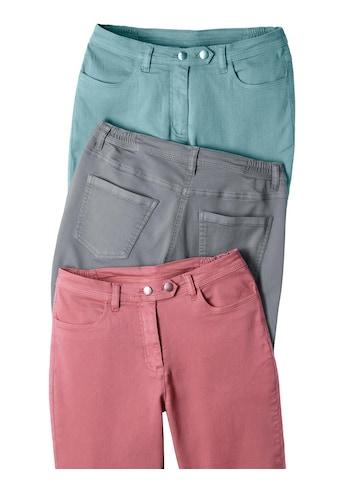 Classic Basics Jeans mit dekorativem 2 - Knopf - Verschluss kaufen