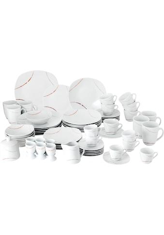 van Well Geschirr-Set »Porto«, (Set, 62 tlg.), Eckige Form kaufen