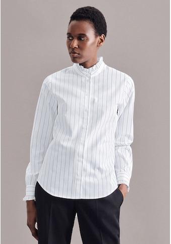 seidensticker Klassische Bluse »Schwarze Rose«, Langarm Kragen Streifen kaufen