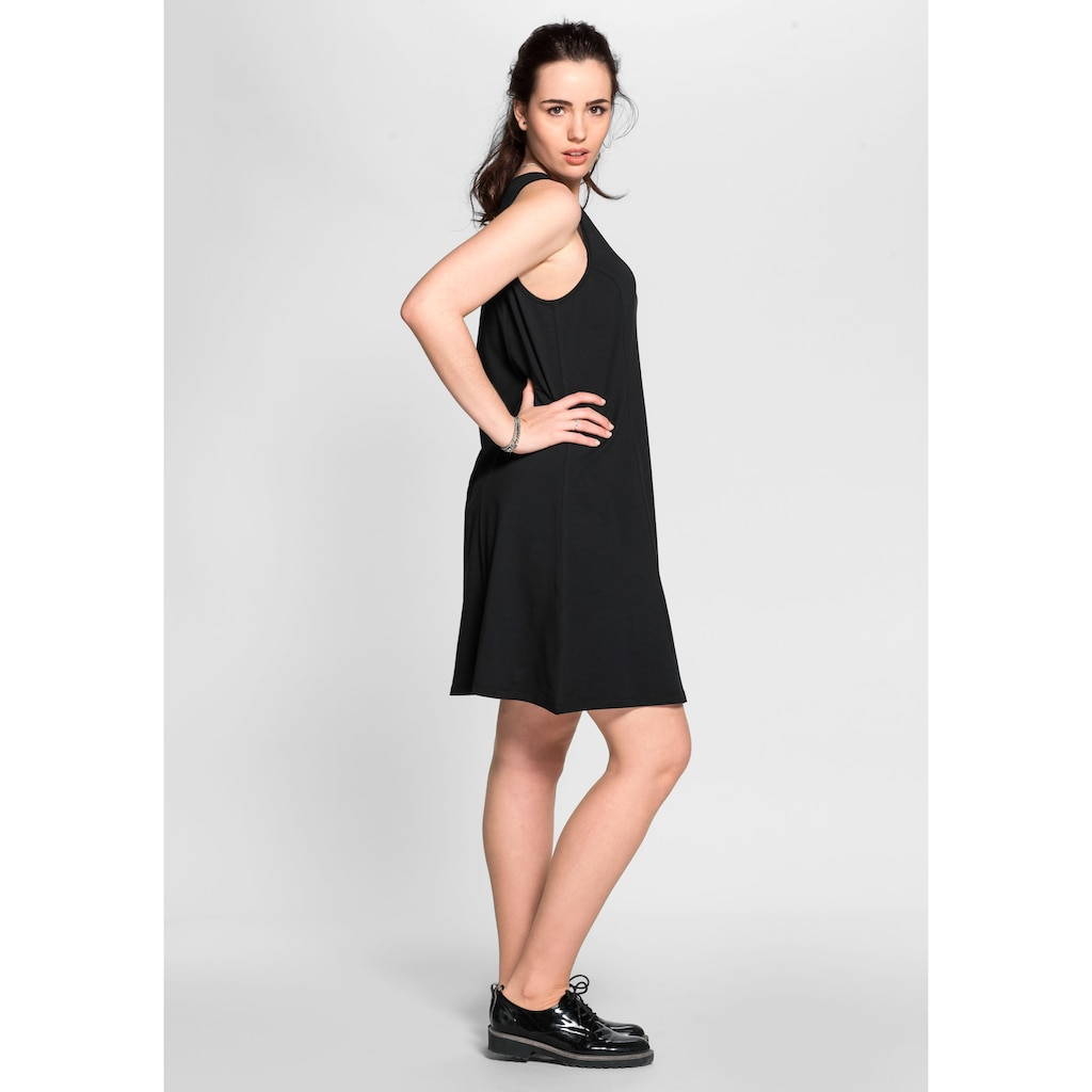 Sheego Jerseykleid, mit breiten Trägern