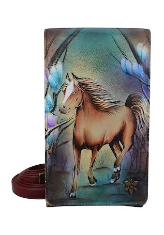 ANUSCHKA Brieftasche »Free Spirit aus handbemaltem Leder«, mit abnehmbarem Schulterriemen kaufen