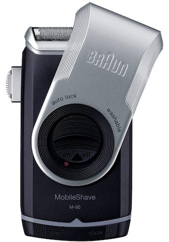 Braun Elektrorasierer »M90«, Langhaartrimmer, PocketGo MobileShave Reiserasierer kaufen