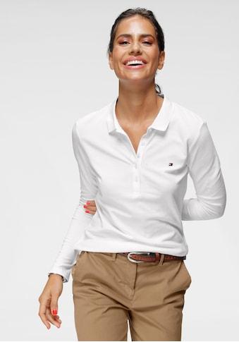 Tommy Hilfiger Poloshirt »HERITAGE LONG SLEEVE SLIM POLO«, mit kleiner Knopfleiste &... kaufen