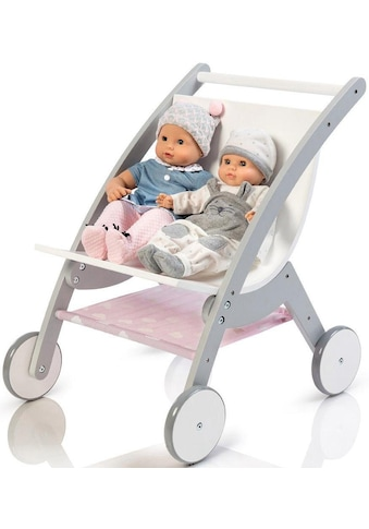 MUSTERKIND® Puppen-Zwillingsbuggy »Barlia, grau/weiß« kaufen