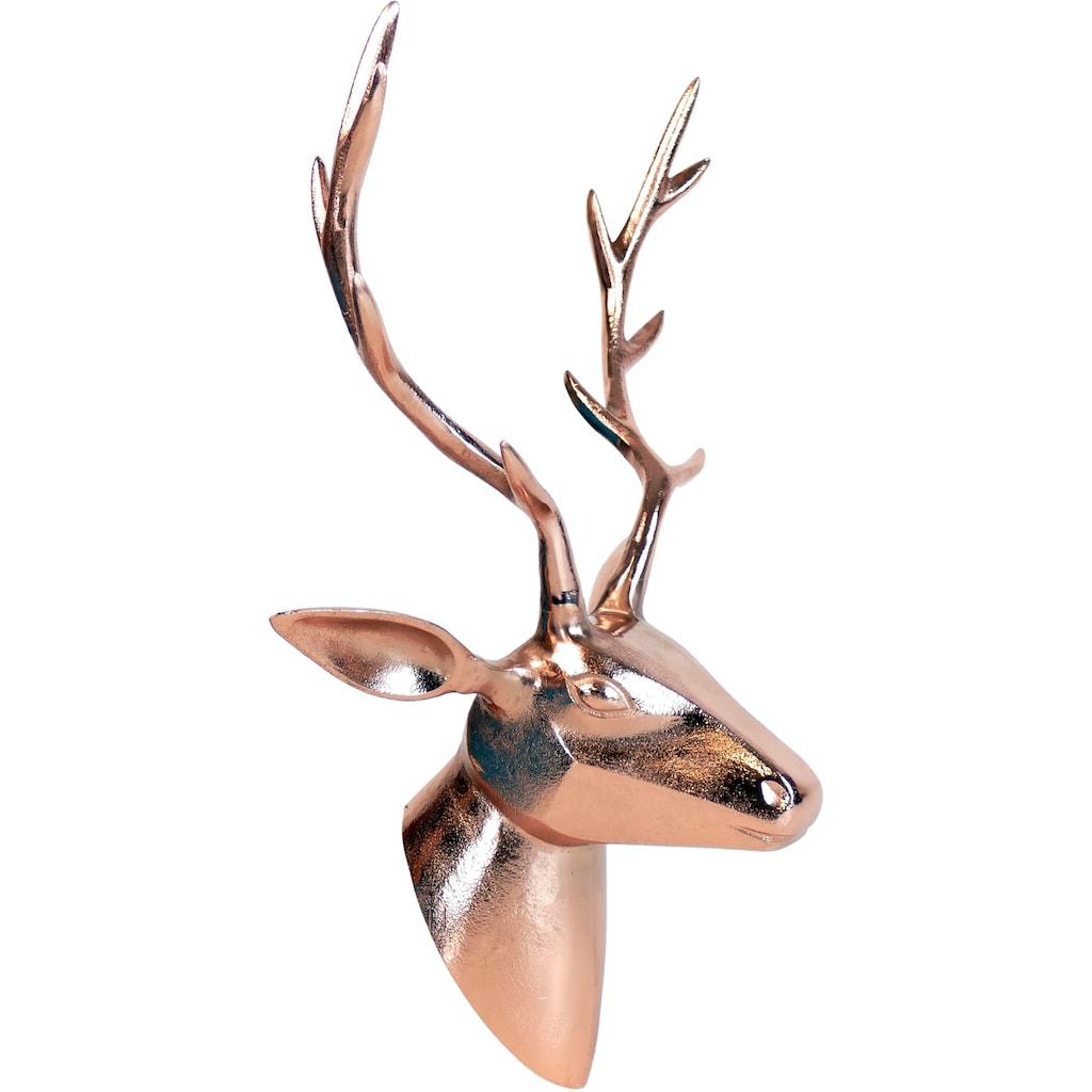 ARTRA Dekogeweih »Hirschkopf«, Wanddeko, aus Metall