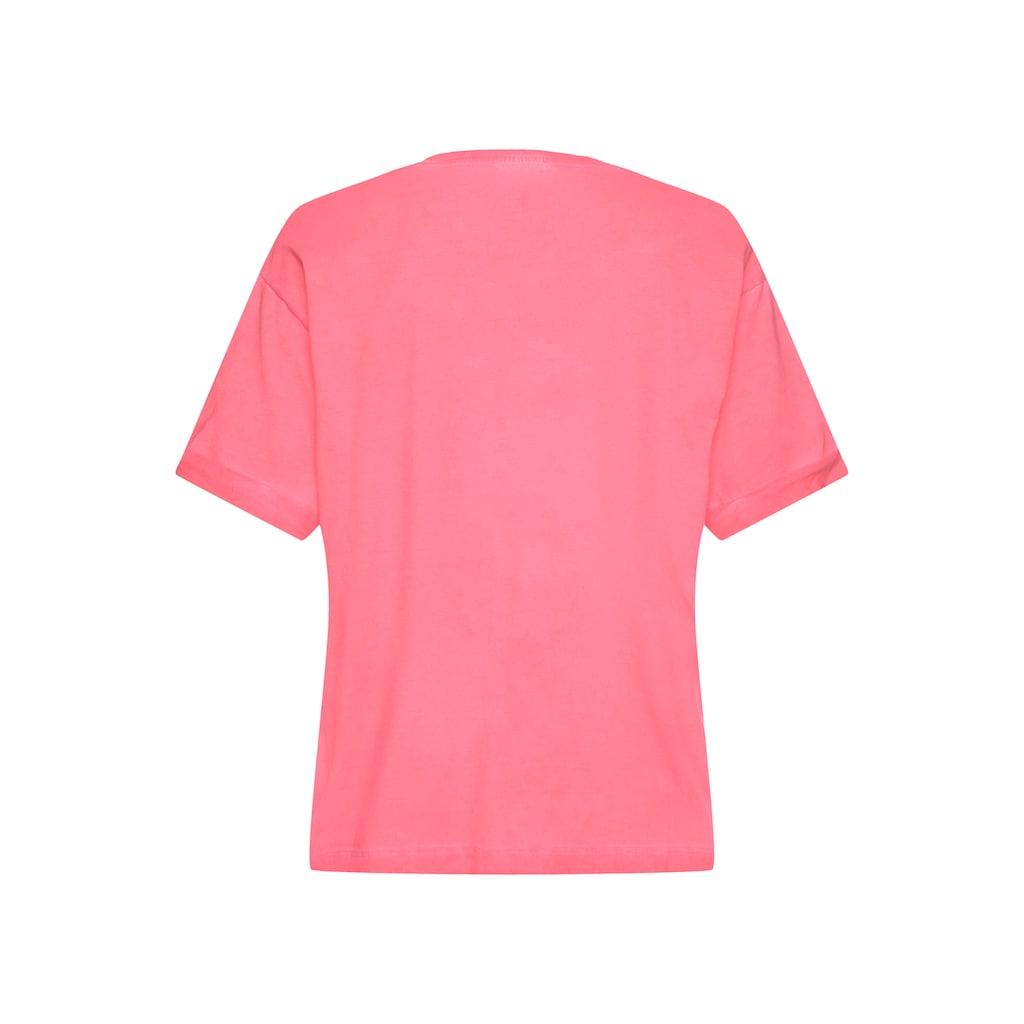 LTB Rundhalsshirt »TAWODI«, mit coolem doppeltem Wording auf Brusthöhe