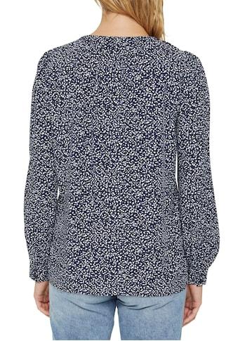 Esprit Druckbluse, mit floralem Minimal-Print kaufen