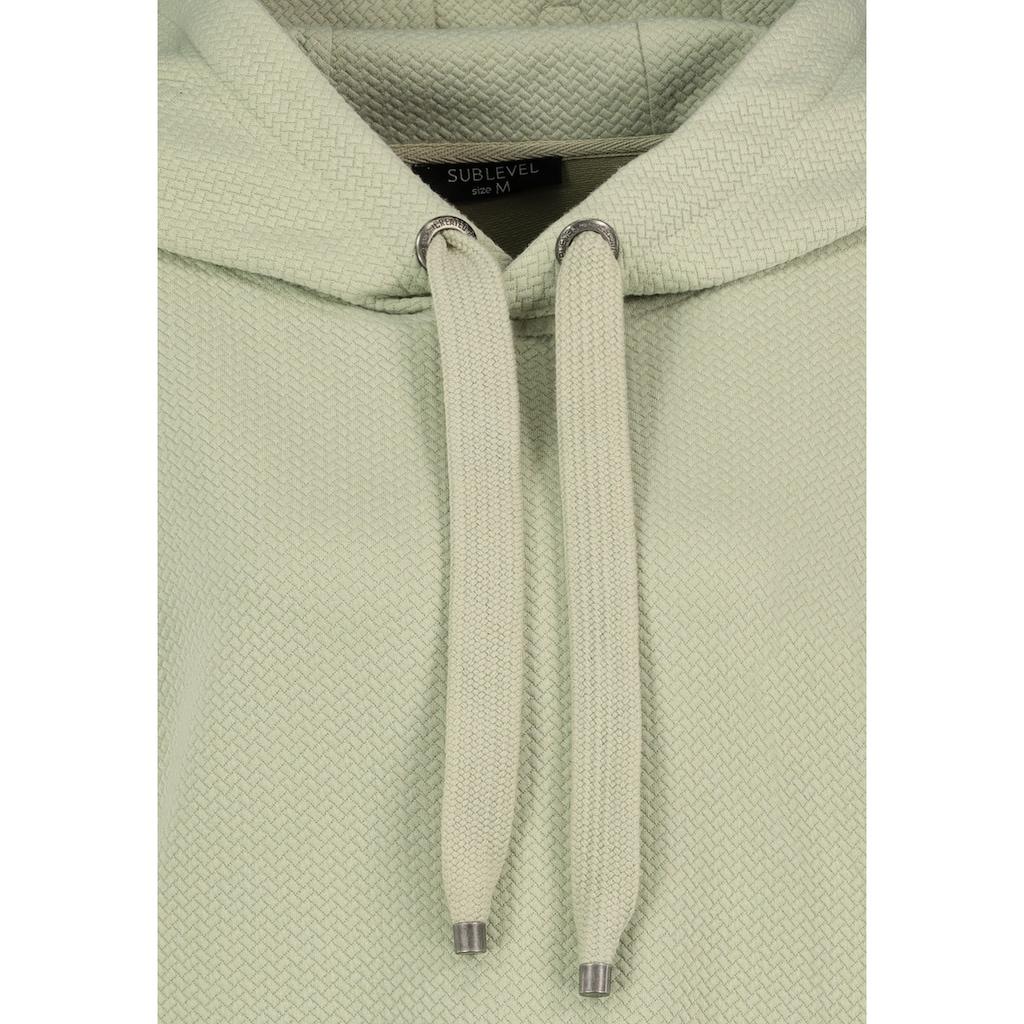 SUBLEVEL Kapuzensweatshirt, mit Strukturmuster