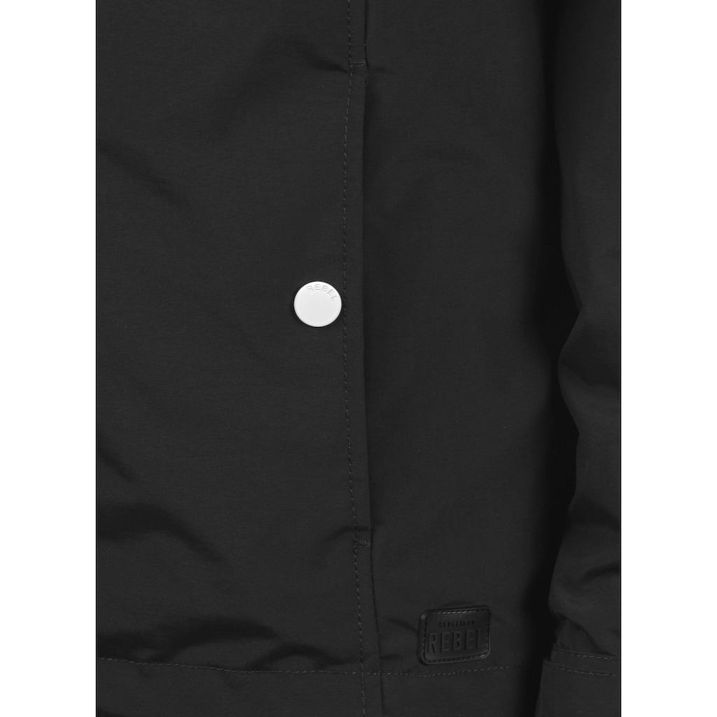 REDEFINED REBEL Langjacke »Maddox«, Jacke mit farblich abgesetzten Knöpfen und Kordeln