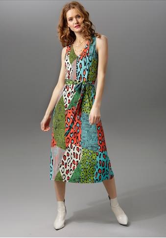 Aniston CASUAL Sommerkleid, unifarben oder mit farbenfrohem Druck - du hast die Wahl kaufen