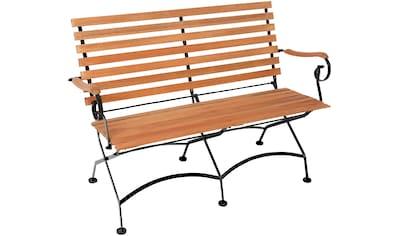 MERXX Gartenbank , Stahl/Eukalyptus, 125x85x58 cm, braun kaufen