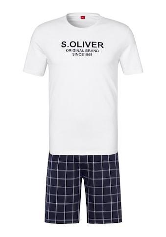 s.Oliver Bodywear Shorty, mit karierter Webhose kaufen