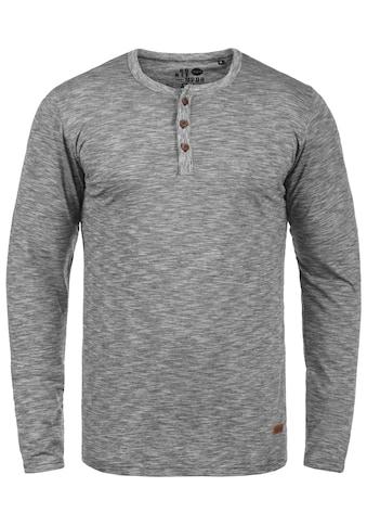 Solid Rundhalsshirt »Migos«, Langarmshirt mit Knopfleiste kaufen