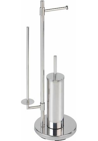 WENKO WC - Garnitur »Universalo«, integrierter Toilettenpapierhalter und WC - Bürstenhalter kaufen