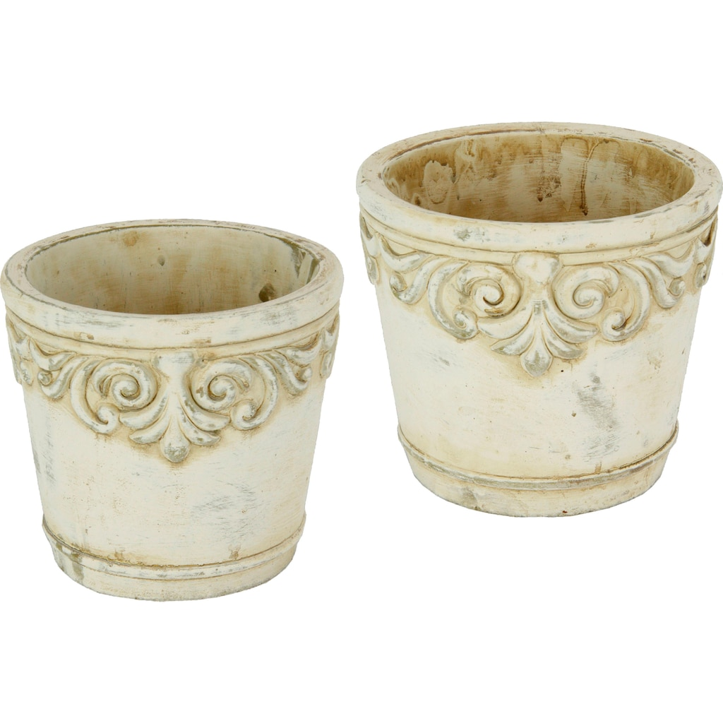 Home affaire Übertopf, Keramikübertopf mit Ornamenten