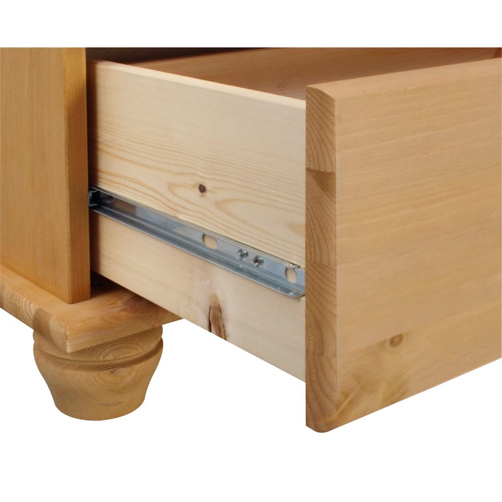 Home affaire Kommode »Finca«, aus massivem Kiefernholz, mit vielen Schubladen für viele Stauraummöglichkeiten