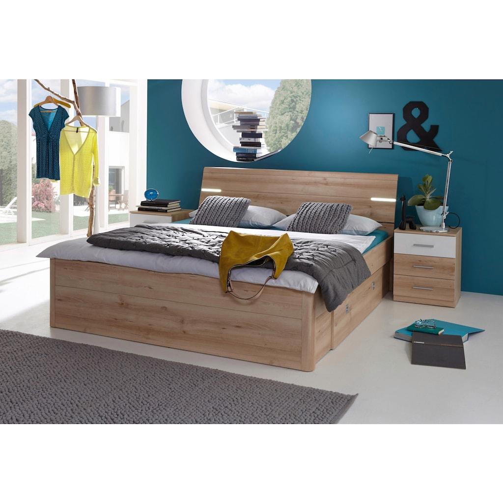Bett, inkl. 2 Nachttische und 2 Schubkästen