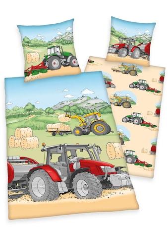 Herding Young Collection Kinderbettwäsche »Traktor«, mit tollem Traktoren-Motiv kaufen