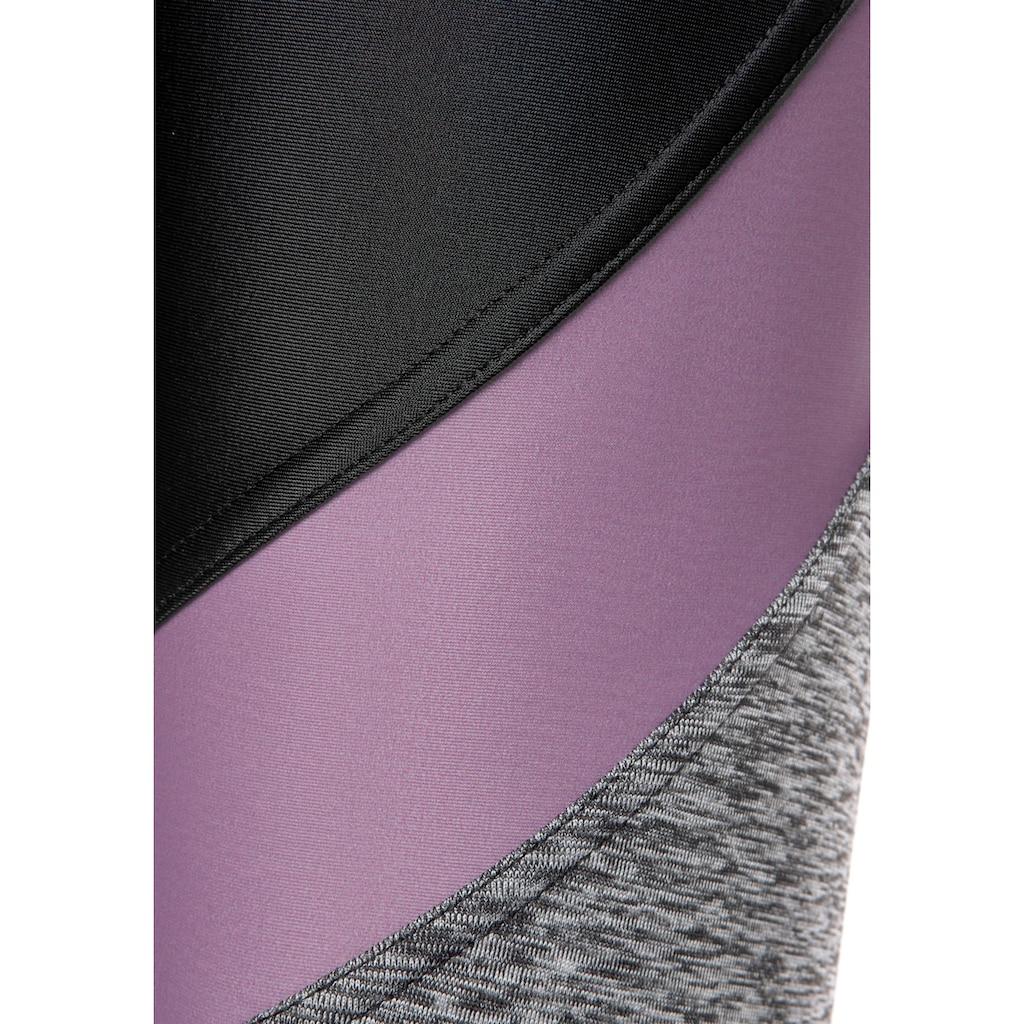 LASCANA ACTIVE Funktionsleggings »Digital Mauve«, mit Farbeinsätzen
