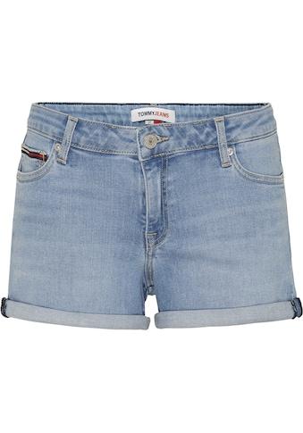 Tommy Jeans Shorts »MR DENIM SHORT TMBS«, zum krempeln mit Tommy Jeans Logo-Badge kaufen
