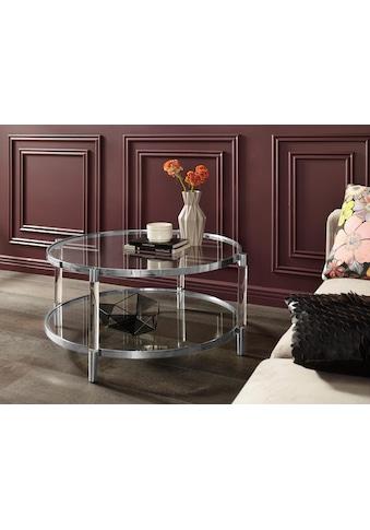 Leonique Couchtisch »Ceadda«, mit Metallbeinen und einer Glastischplatte, in 2 Farben,... kaufen