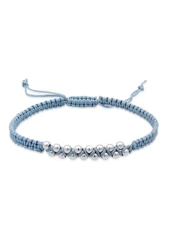 Elli Armband »Kugeln Bead Nylon Knoten Verstellbar 925 Silber« kaufen