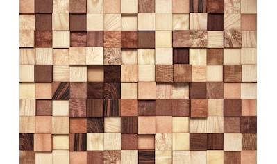 Komar Fototapete »Lumbercheck«, bedruckt-Wald-geblümt, ausgezeichnet lichtbeständig kaufen