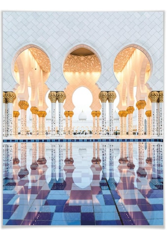 Wall-Art Poster »Sheikh Zayed Moschee Abu Dhabi«, Gebäude, (1 St.), Poster, Wandbild, Bild, Wandposter kaufen