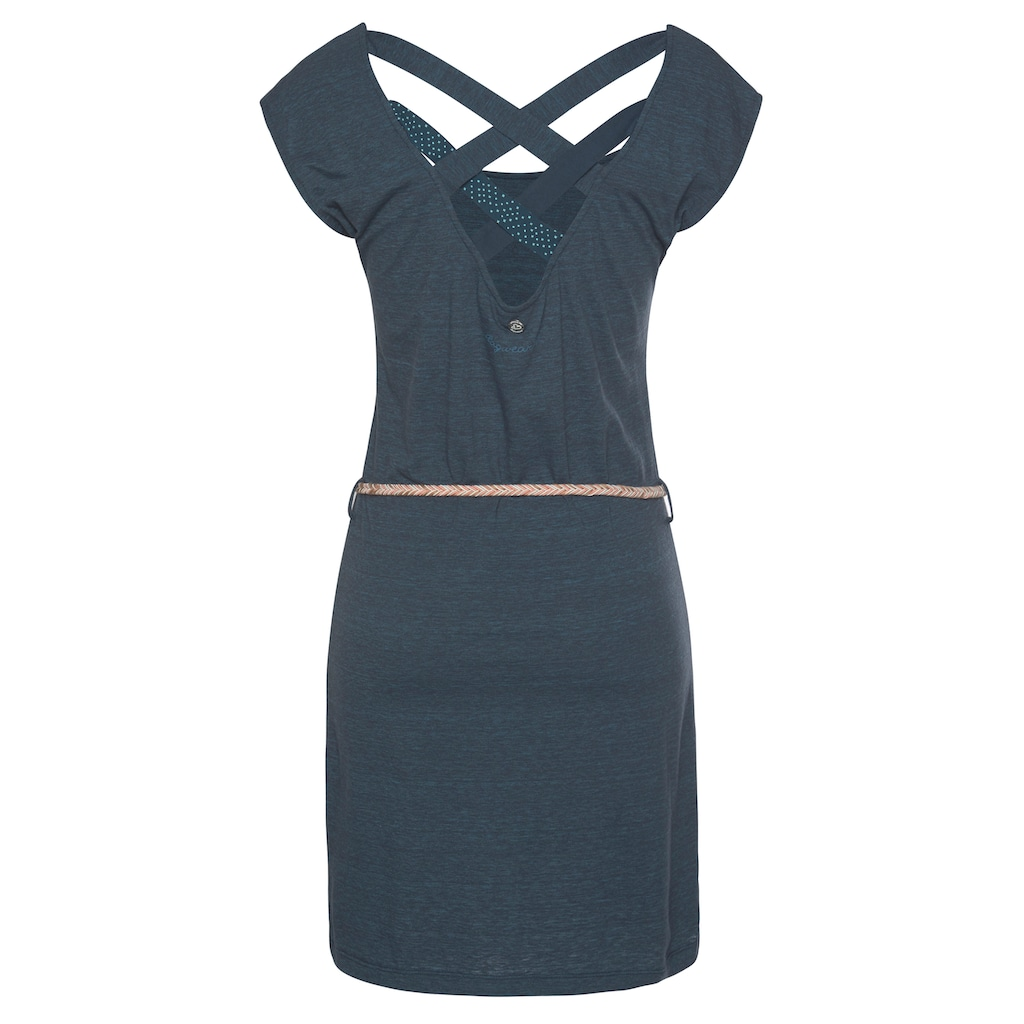 Ragwear Shirtkleid »SOFIA«, (2 tlg., mit abnehmbarem Gürtel), mit aufwendigem Rückenausschnitt