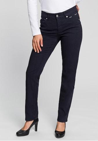 MAC Gerade Jeans »Melanie summer rivet«, Mit Nietenverzierung Ton in Ton kaufen