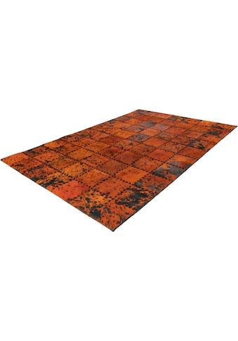 Arte Espina Fellteppich »Voila 100«, rechteckig, 5 mm Höhe, echtes Kuhfell, Leder, Wohnzimmer kaufen
