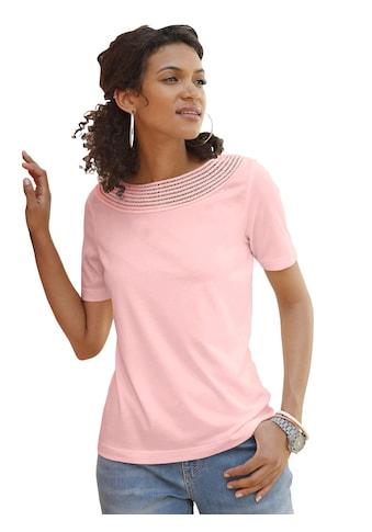 Casual Looks Shirt mit Spitzendurchbruch kaufen