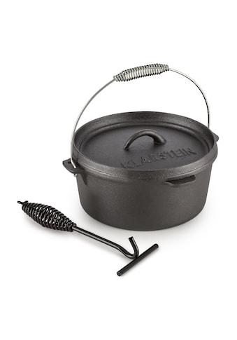 Klarstein Dutch Oven BBQ-Topf 9 qt / 8,5 Liter Gusseisen schwarz »Hotrod 85« kaufen