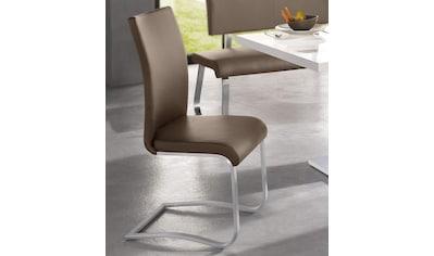 MCA furniture Freischwinger »Arco«, Stuhl mit Echtlederbezug, belastbar bis 130 Kg kaufen