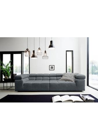 INOSIGN Big-Sofa »Ancona«, mit auffälliger Steppung, inkl. 2 Zierkissen und verstellbaren Kopfstützen kaufen