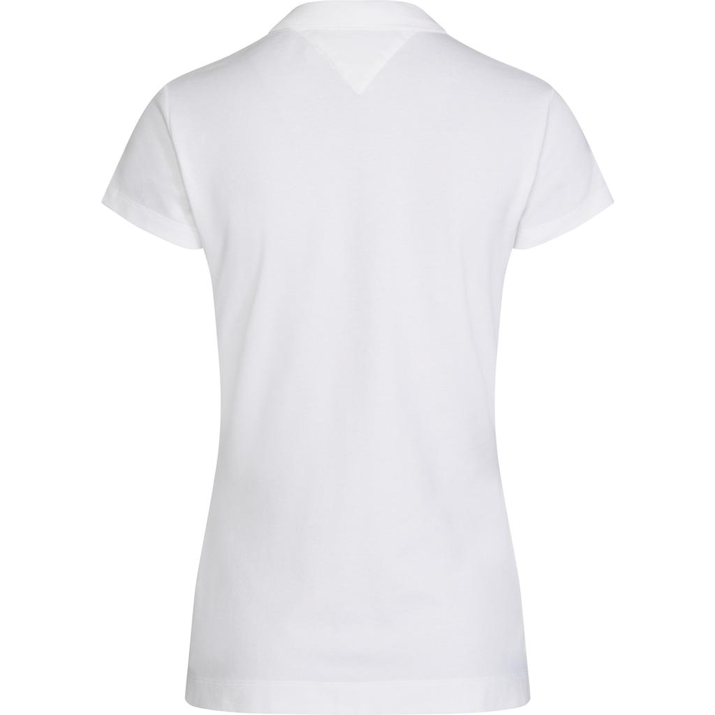 TOMMY HILFIGER Poloshirt »HERITAGE SHORT SLEEVE SLIM POLO«, mit Tommy Hilfiger Logo-Flag auf der Brust