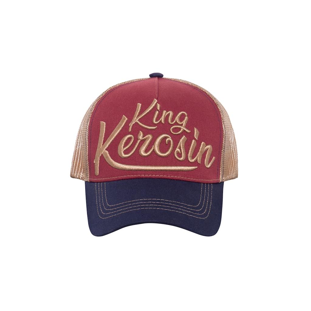 KingKerosin Trucker Cap »King Kerosin«, mit Stickerei und Print auf der Schirmunterseite