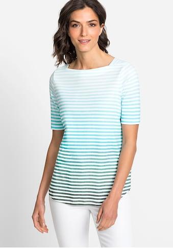 Olsen T-Shirt, mit Streifenmuster mit Farbverlauf kaufen