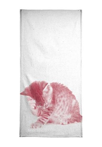 Juniqe Handtuch »Kätzchen 01«, (1 St.), Weiche Frottee-Veloursqualität kaufen