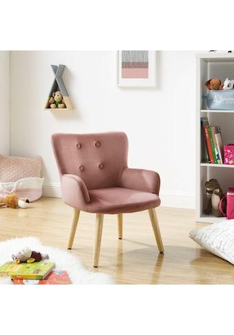 Lüttenhütt Sessel »Levent Mini«, mit Metallbeinen im Eichen-Look, in verschiedenen Bezugsqualitäten und Farbvarianten, Sitzhöhe 31 cm kaufen