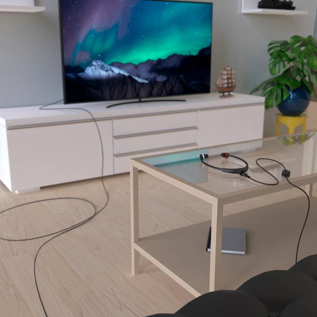Thomson TV-Kopfhörer In-Ear, Kinnbügel, getrennte Lautstärkeregler