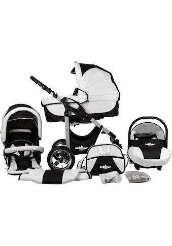 "bergsteiger Kombi - Kinderwagen ""Capri, black & white, 3in1"", (10 - tlg.) kaufen"