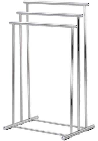 WENKO Handtuchständer »Lioni«, Drei Stangen in stufenförmiger Anordnung bieten viel Platz für Handtücher oder Kleidungsstücke kaufen