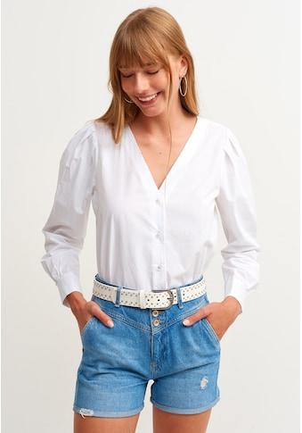 OXXO Hemdbluse, mit V-Ausschnitt kaufen