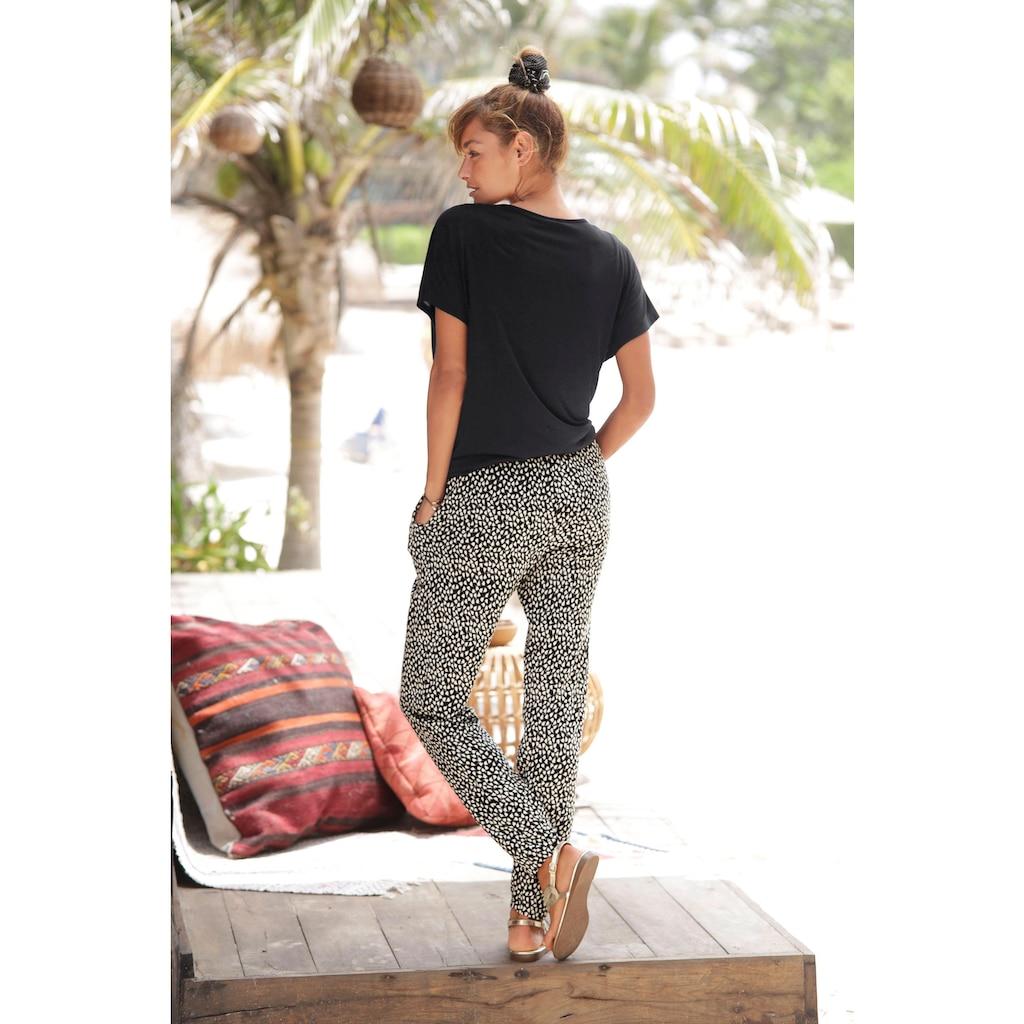 s.Oliver Beachwear Strandhose, mit Blumendruck