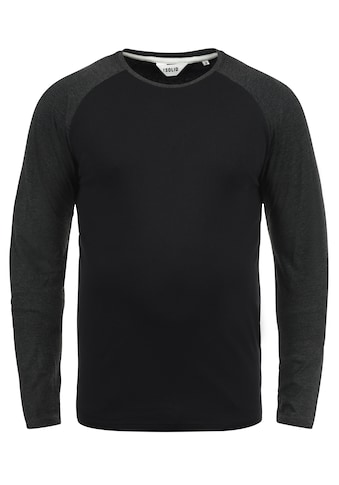 Solid Rundhalsshirt »Bastien«, Longsleeve im Baseball-Look kaufen