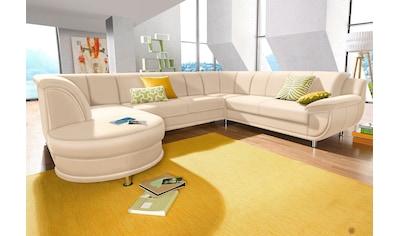 TRENDMANUFAKTUR Wohnlandschaft, inklusive komfortablem Federkern, wahlweise mit Bettfunktion kaufen