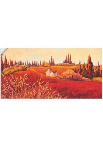 Artland Wandbild »Rote Felder«, Felder, (1 St.), in vielen Größen & Produktarten -... kaufen